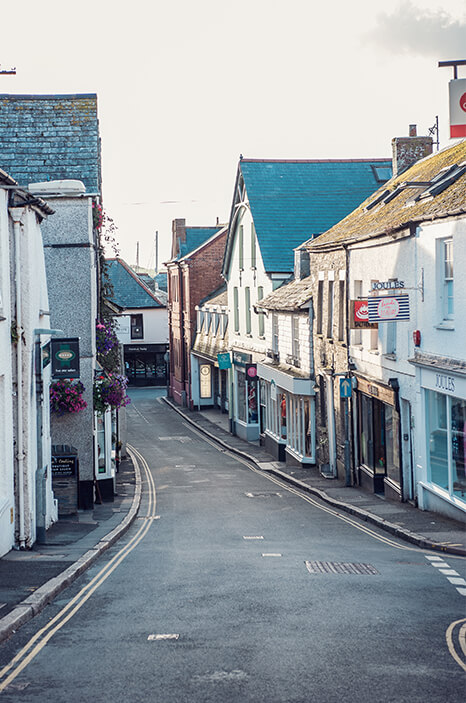 Padstow town backstreets