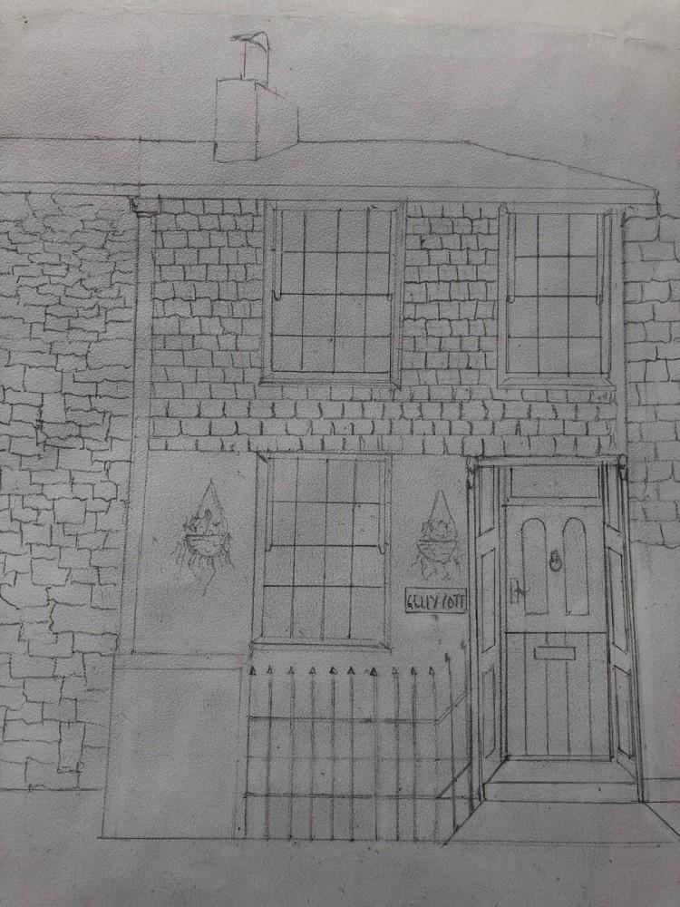 Gelly Cott House Sketch